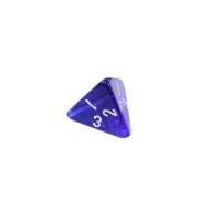 4-seitiger Würfel - Tetraeder - W4 - transparent - blau