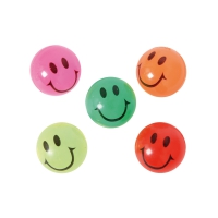 bounce-ball smile clear 25mm - assorted