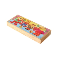 Dressing Puzzle Bear-Family colored