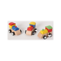 wooden clockwork locomotive - assorted