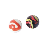 Marbles 35mm assorted 6pcs - assorted