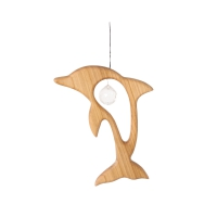 wooden hanger Dolphin with crytal