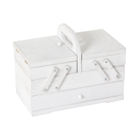 Sewing box small washed white