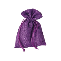 Glitter bag - with cord - about 125x180 mm - long - purple