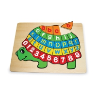 Wooden puzzle ABC turtle