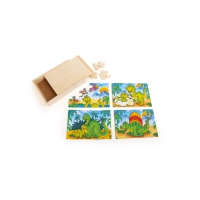 Puzzle Box 4 in 1 - Dinosaurs