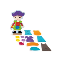 Dressing doll for threading - pirate