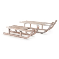 Decorative sleds made of wood