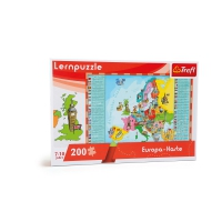 European map learning puzzle