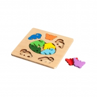 Butterfly and Dinosaur - Legepuzzle - 3