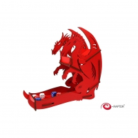 Dice Towers Large - Dice Tower - Dragon (Red)