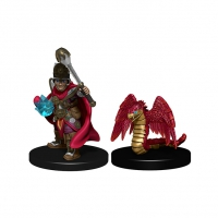 WizKids Wardlings Painted Miniatures - Boy Cleric & Winged Snake