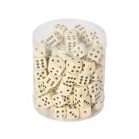 Dices in round box