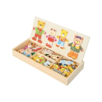 Dressing puzzle bear family