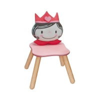 Childrens chair princess pastel