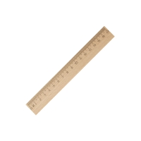 Lineal 17 cm Holz