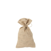 Jute fabric bags -  ca. 260 x 160 mm - long - Jute fabric