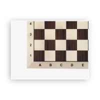Chessboard - Mahogany-Maple - Tournament - Field Size 58 mm
