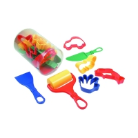 9 parts set in transparent box - kneading accessory