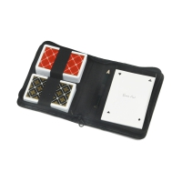 Playing cards double deck in small case
