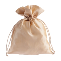 Satin fabric bags - ca. 15 x 20 cm - skin-colored
