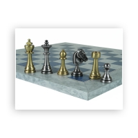 Chess figures - Brass - Staunton - king size 70mm