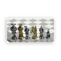 Chess figures - metal - Landsknecht - King size 87mm