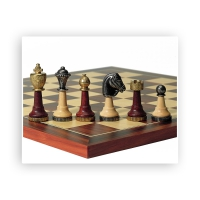 Chess figures - Wood and Metal - Staunton - King size 75mm