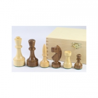 Chess figures - Akazienholz and boxwood - modern form - King size 89mm