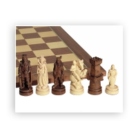Chess figures - beautifully carved - Maple - King size 100mm