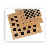 Chess and Nine mens morris - Birch - Field Size 41 mm