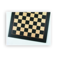 Chessboard Anigre black and ash - width 55 cm - field size 55 mm