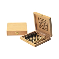 Plug Chess - nine mens morris - wood - printed - 14x14 cm