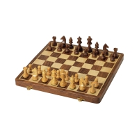 Chess Set - Rosewood - Intarsia - Field Size 40 mm - king size 70 mm