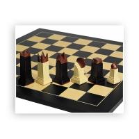 Feldgröße 50 mm Schach und Mühlebrett Birke bedruckt