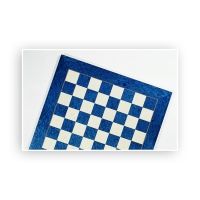 Chessboard birdseye maple blue and white - width 55 cm - field size 55mm