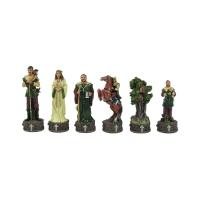 Chess figures - crushed stone - Robin Hood - King size 80mm