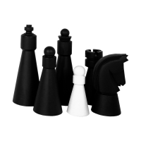 Outdoor Chess figures - Caissa - King size 68cm