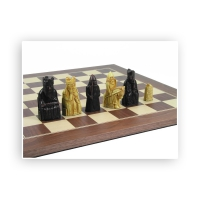 Chessmen - Isle of Lewis - with chess board - king size 90 mm