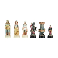 Chess figures - Linde - hand painted - King size 100mm