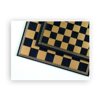 Chessboard - Salpaleder - gold and blue - 39.5 cm width - 45 mm field size