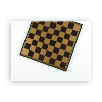 Chessboard - Salpaleder - gold and brown - width 39.5 cm - field size 45 mm