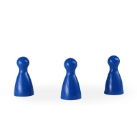 Chinese checkers pieces - Meeple - blue - KS - 12 x 24 mm