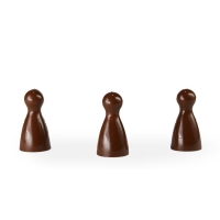 Chinese checkers pieces - Meeple - brown - KS - 12 x 24 mm