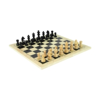 Exclusive Chess - Checkers and Nine mens morris set - King size 76 mm