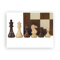 Chess figures - teak and box tree - King size 95mm