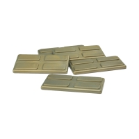 gaming piece - playing pieces - rectangular - gold