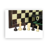 Chess figures - Rih Design - Hand carved knights - weighted - King size 89mm