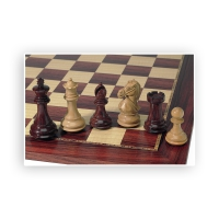 Chess figures - Super Staunton - hand carved knights - King size 102mm