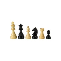 Chesmen Set- Staunton - black - King Height 76 mm - weighted